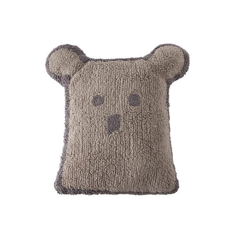 Lorena Canals Cushion Bear Linen - Dark Grey