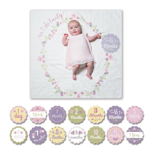 Lulujo Baby's 1st Year Blanket & Cards Set - Isn't She Lovely - CanaBee Baby