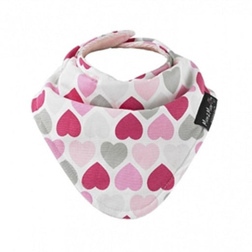 Mum2Mum Fashion Bandana Bib - Muted Hearts - CanaBee Baby
