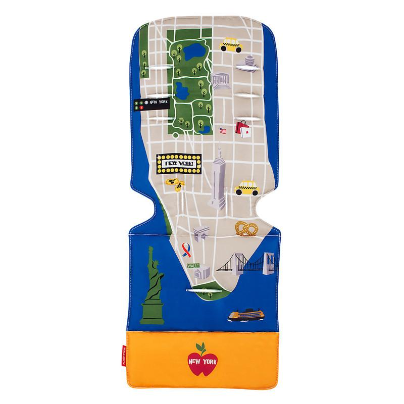Maclaren Universal Seat Liner - New York City Map - CanaBee Baby
