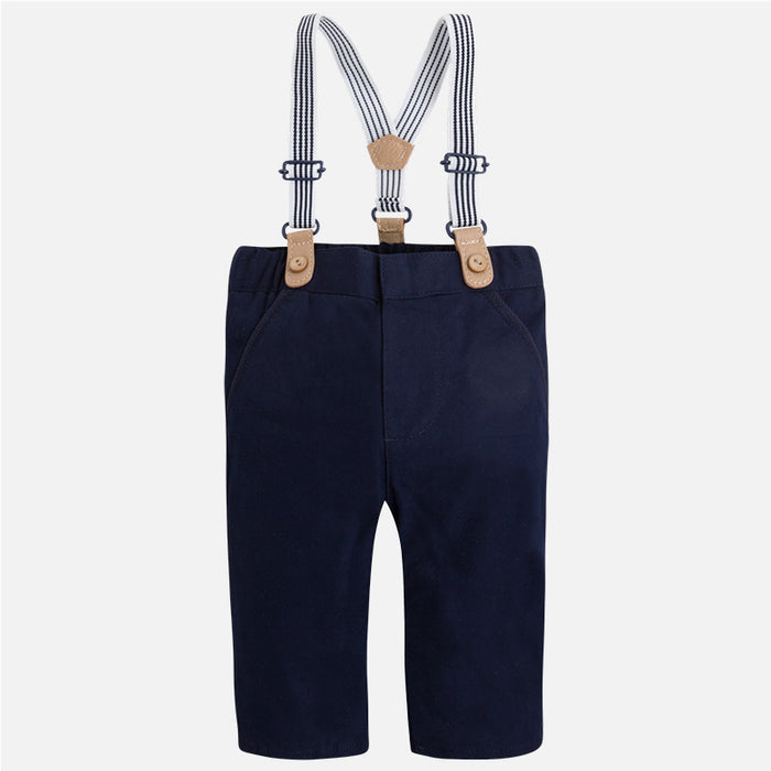 Mayoral Baby Long Pants with Suspenders - Deep Blue - CanaBee Baby