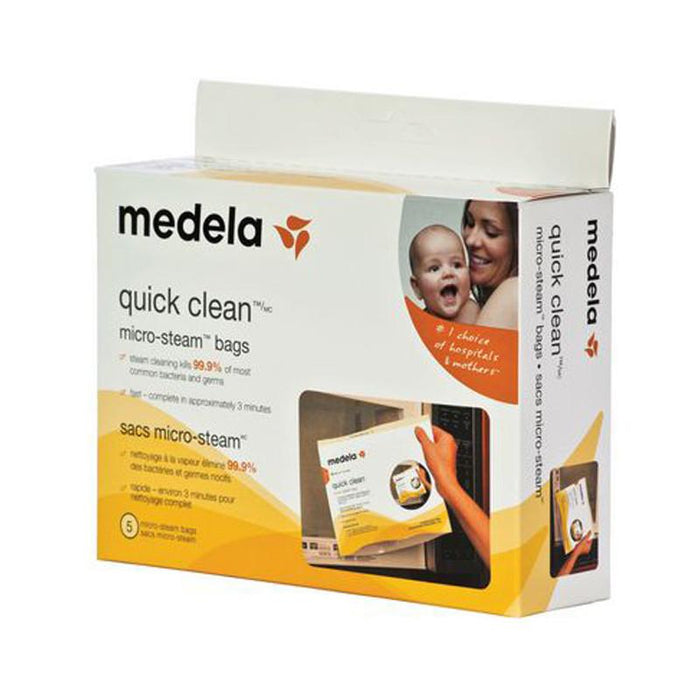 Medela Quick Clean Micro-Steam Bag 5pk - CanaBee Baby