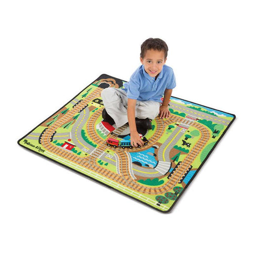 Melissa & Doug Round the Rails Train Rug - CanaBee Baby