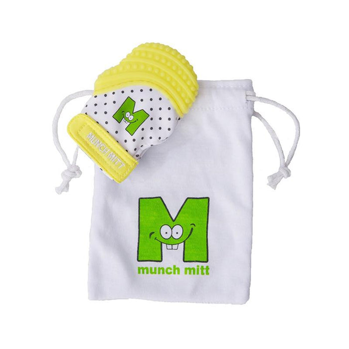 Munch Mitt Baby Teething Mitten - Yellow - CanaBee Baby