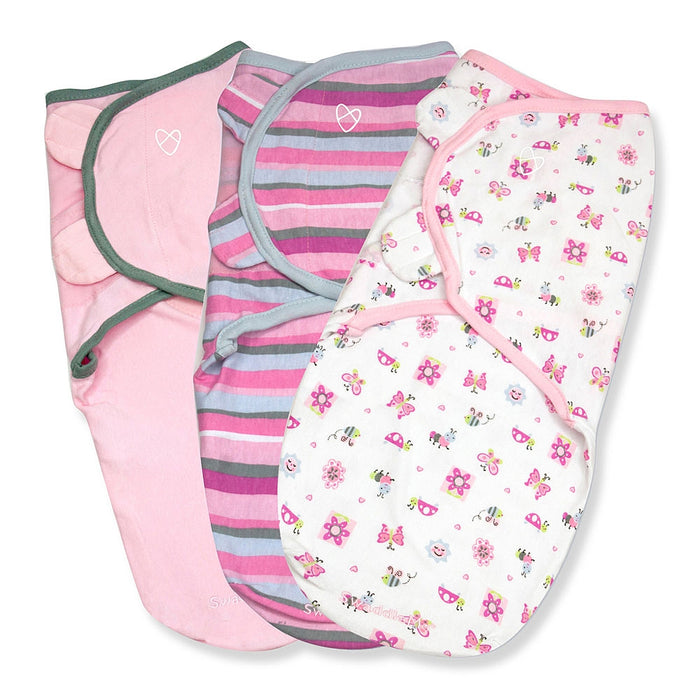 Summer Infant Swaddle Me Girly Bug S/M 3pk 54314