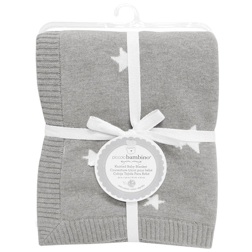 pb blanket knitted Grey - CanaBee Baby