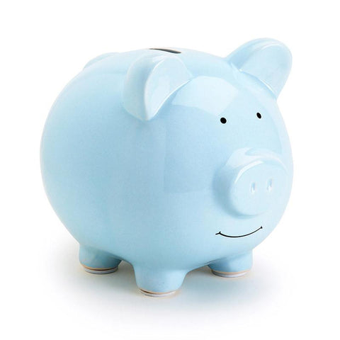 Pear Head Ceramic Piggy Bank - Blue