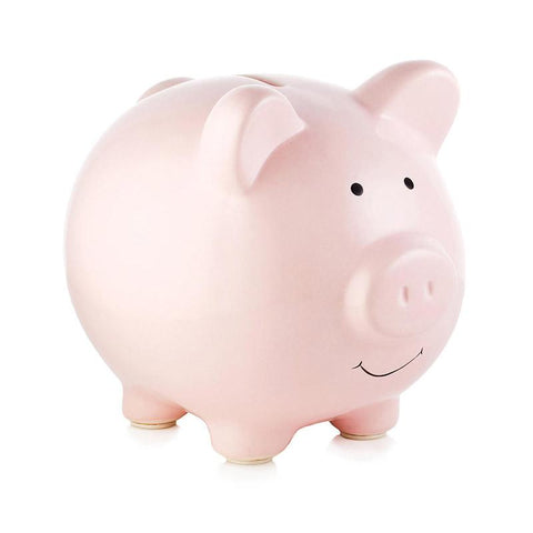 Pear Head Ceramic Piggy Bank - Pink