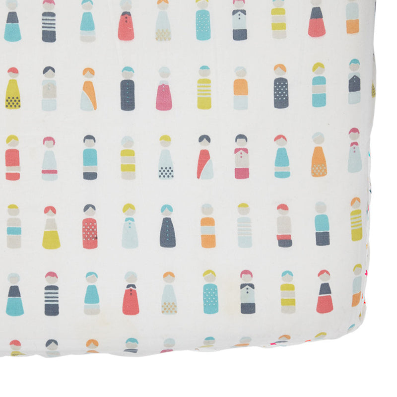 Petit Pehr Crib Sheet - Little Peeps - CanaBee Baby