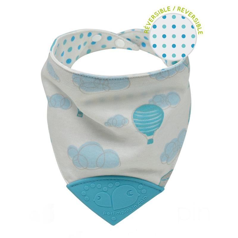 Perlim Pin Pin Bubbly Cotton Teething Bib - Balloons - CanaBee Baby