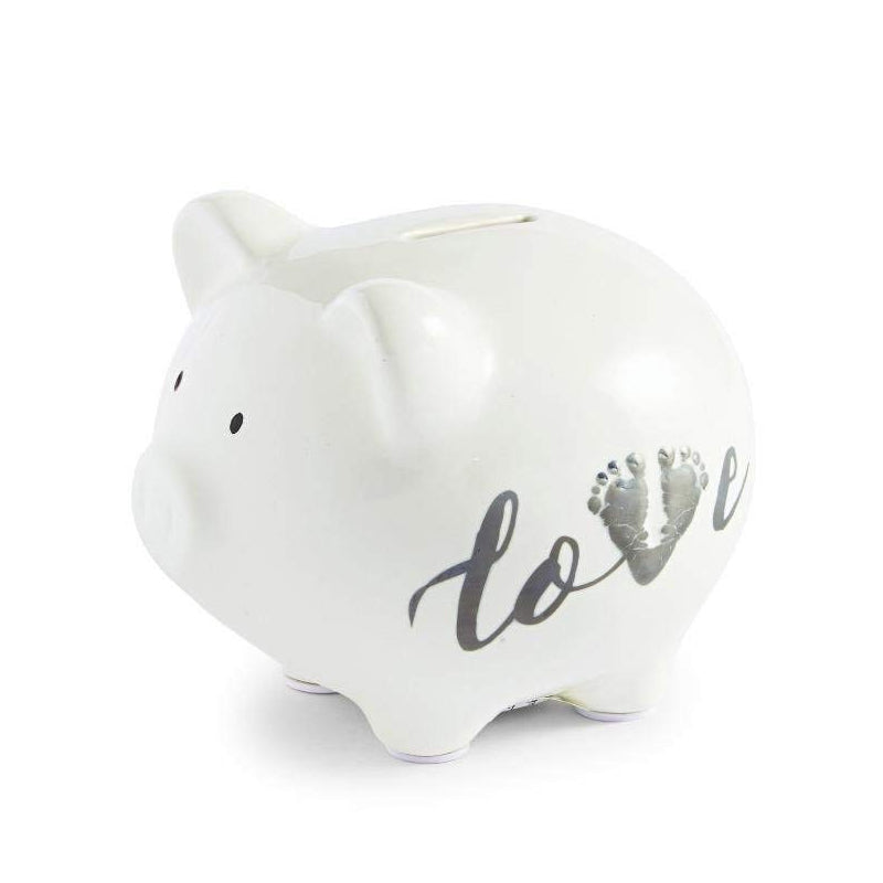 Mudpie March of Dimes Piggy Bank with Footprint Icon