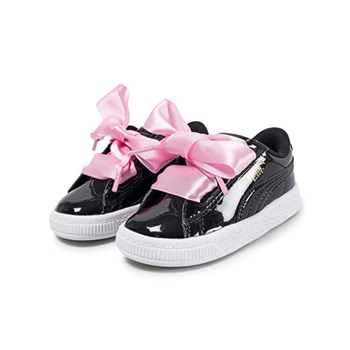 low priced 6676f 1bf83 Puma Basket Heart Patent Black 36335301