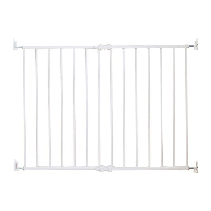 Qdos Extending SafeGate Hardware Mounted Gate - White - CanaBee Baby