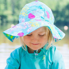 Iplay Fun Brim Hat Aqua Coral Reef
