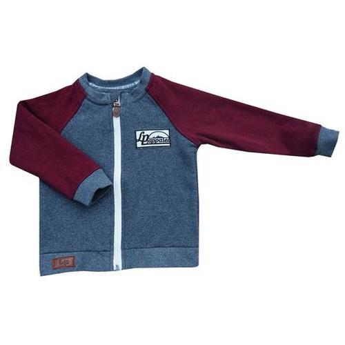 L&P Robson Sweater - Charcoal & Burgundy 6-12m