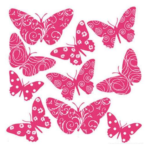 Roommates Flocked Butterfly Wall Appliques - CanaBee Baby