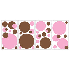 Roommates Just Dots Pink&brown Wall Decals - CanaBee Baby