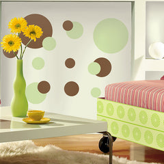 Roommates Just Dots Green&brown Wall Decals - CanaBee Baby