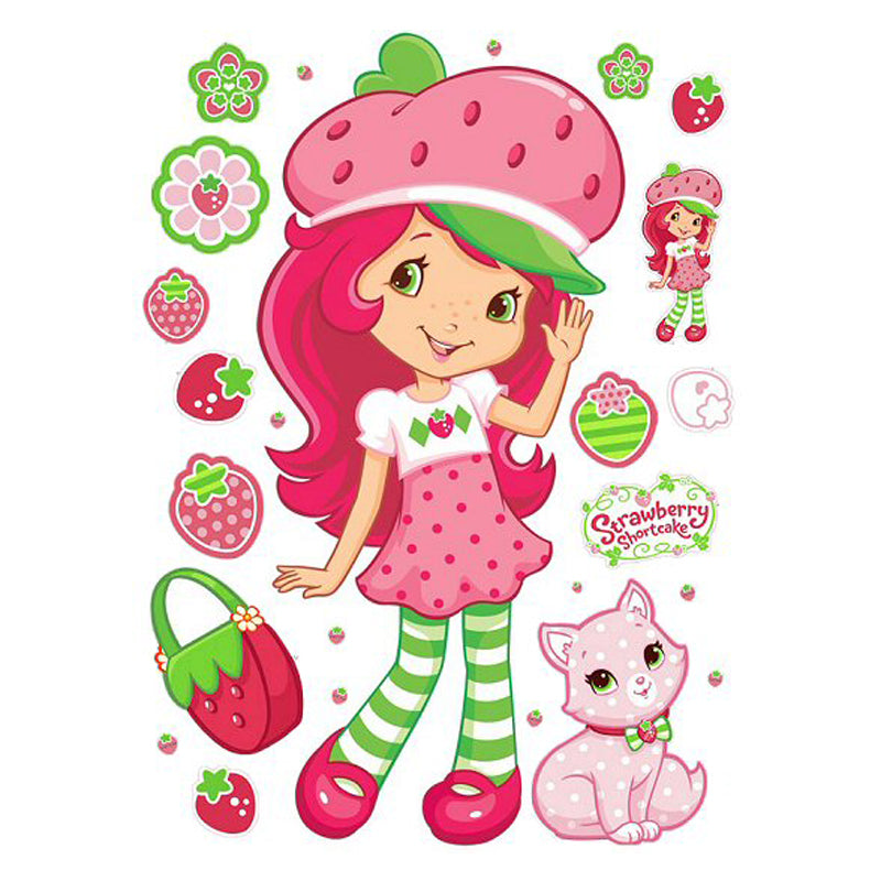 Roommates Strawberry Shortcake Giant Wall Decals - CanaBee Baby