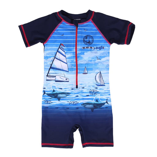 Nano One Piece Swimsuit Sailor Print