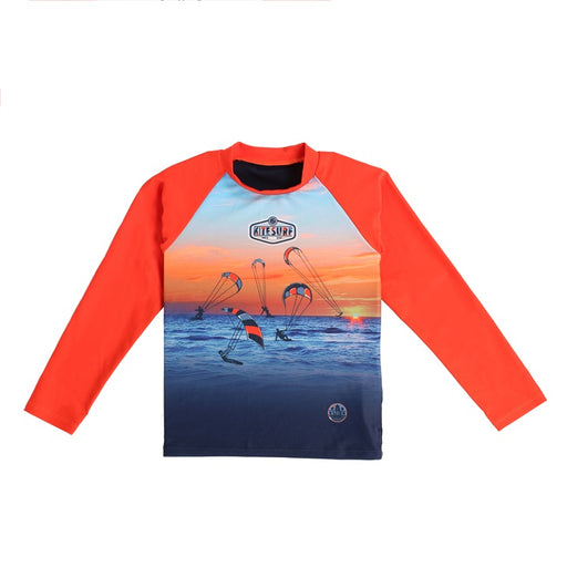 Nano Long Sleeve Rashguard T-shirt Orange