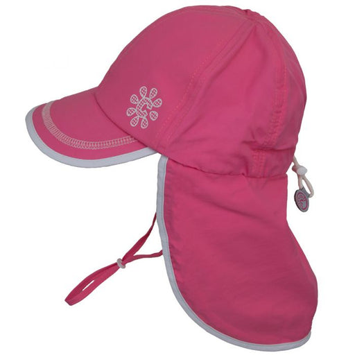 Calikids UV Flap Hat - Hot Pink