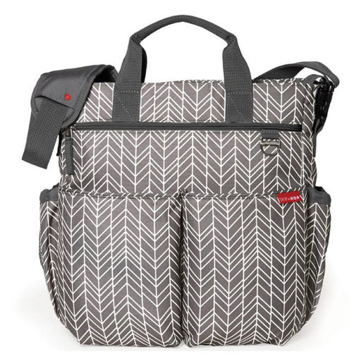 Skip Hop Duo Signature Diaper Bag - Grey Feather - CanaBee Baby