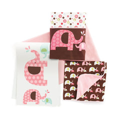 Skip Hop Crib Set 4pc - Pink Elephant