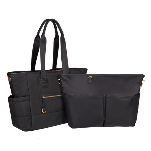 Skip Hop Chelsea Downtown Chic 2 in 1 Diaper Tote - Black - CanaBee Baby