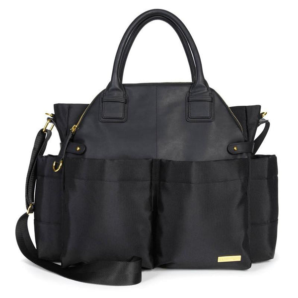 Skip Hop Chelsea Downtown Chic Diaper Satchel - Black - CanaBee Baby