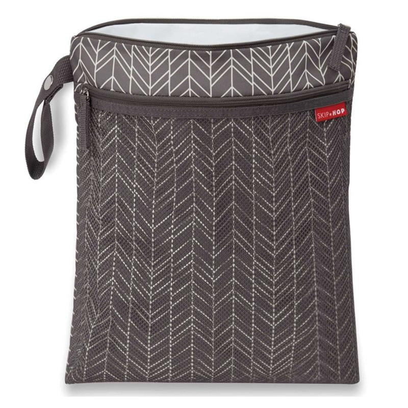 Skip Hop Grab & Go Wet/Dry Bag - Grey Feather - CanaBee Baby