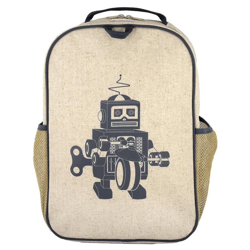 So Young Grade School Backpack - Grey Robot - CanaBee Baby