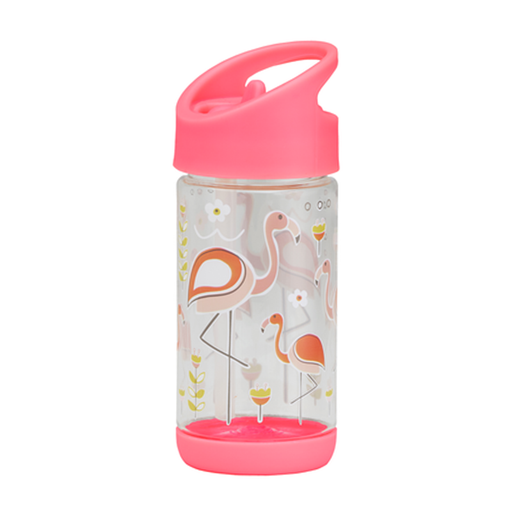 Sugarbooger Flip & Sip Clear Tritan Bottle - Flamingo - CanaBee Baby