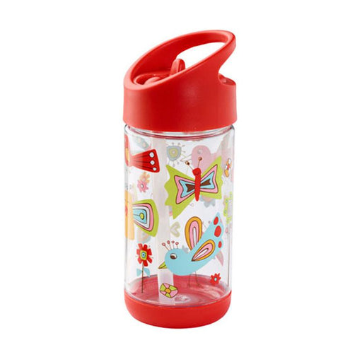 Sugarbooger Flip & Sip Clear Tritan Bottle - Birds & Butterflies - CanaBee Baby