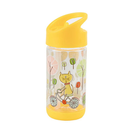 Sugarbooger Flip & Sip Clear Tritan Bottle - Go Kitty Go - CanaBee Baby