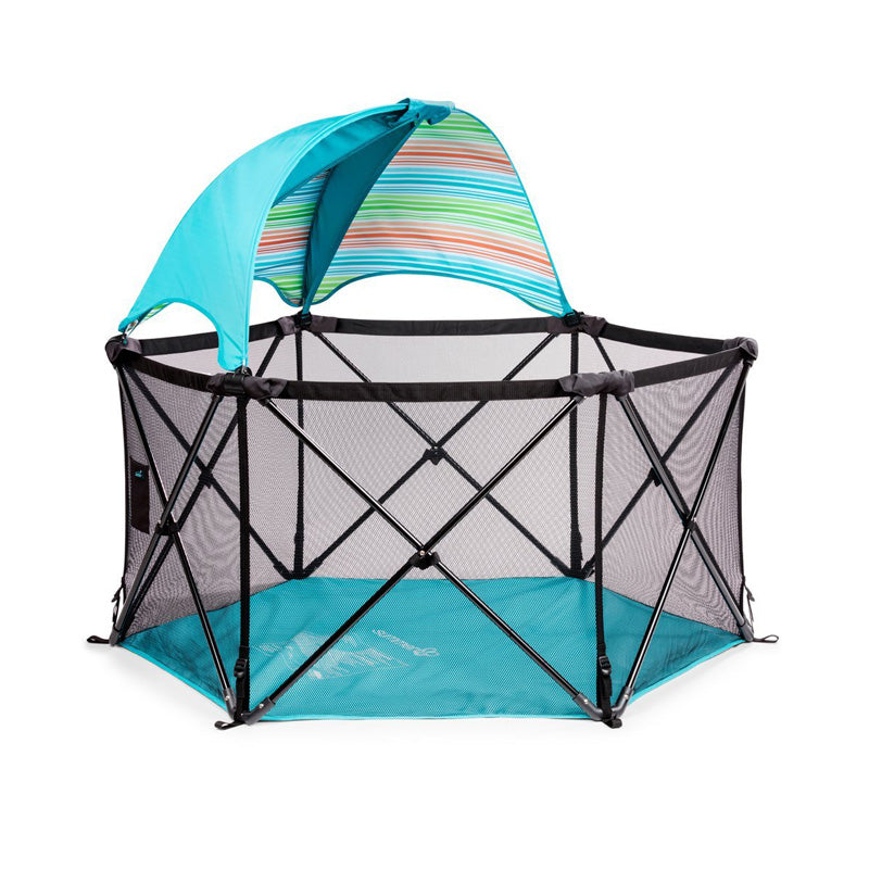 Summer Infant Pop N' Play Ultimate Playard With Canopy Aqua