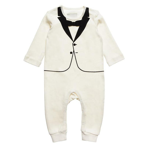 The Tiny Universe The Tiny White Velvet Bow Tie - CanaBee Baby