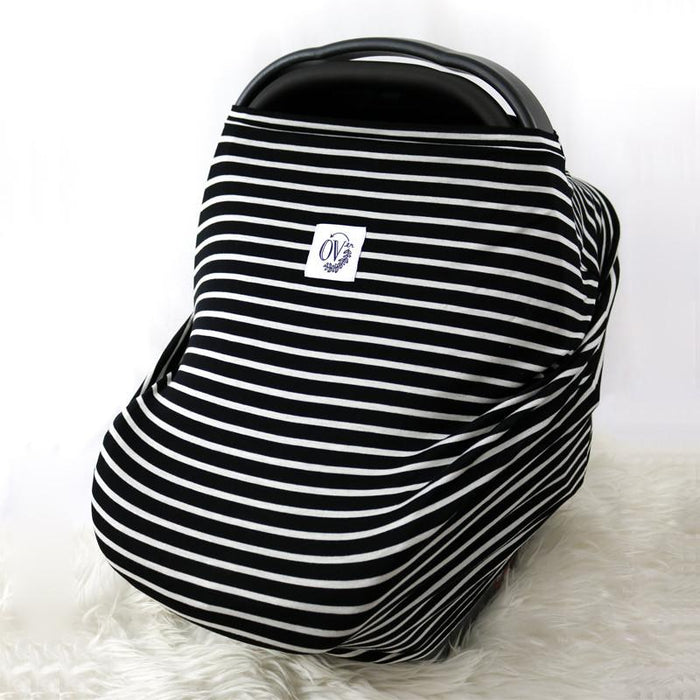 The Over Company Lightweight Multi Use Baby Cover - The New Alto Stripe - CanaBee Baby