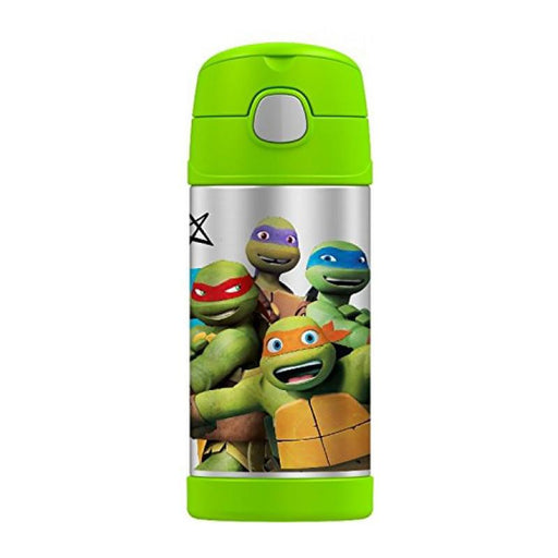 Thermos Funtainer Straw Bottle 12oz - Teenage Ninja Turtles - CanaBee Baby