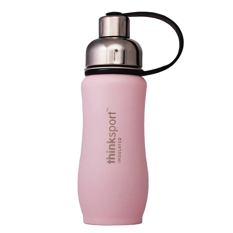 Thinksport Insulated Sports Bottle 12oz - Light Pink - CanaBee Baby