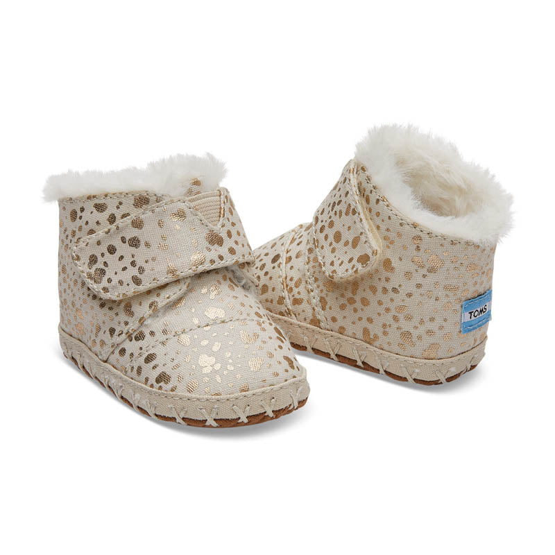 Toms Snow Spots Tiny Cunas - Gold Foil - CanaBee Baby