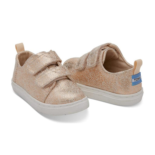 174e6784f65 Toms Rose Gold Crackle Foil Tiny Lenny Sneakers - CanaBee Baby
