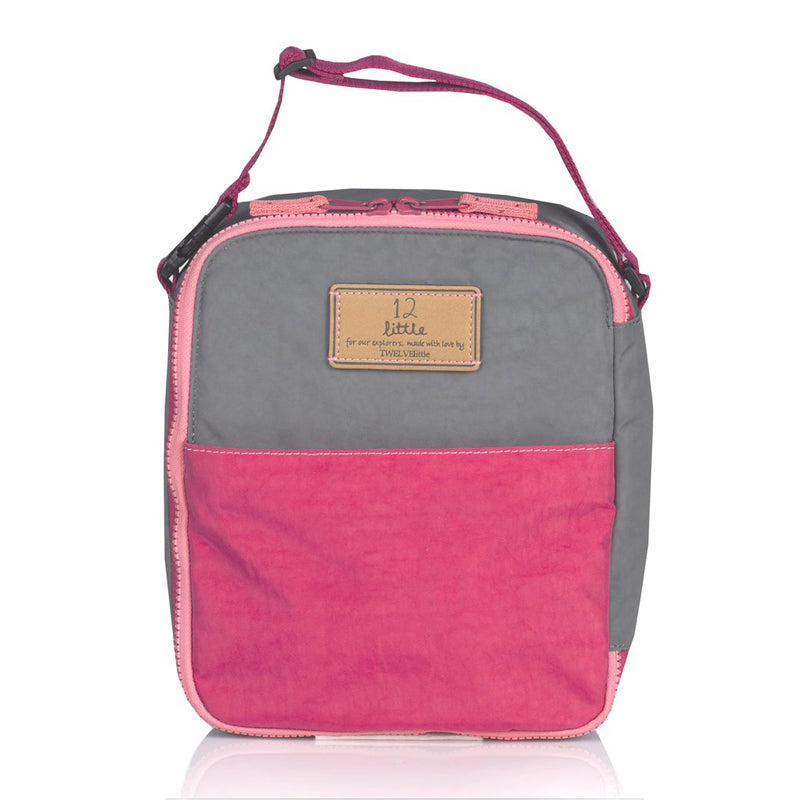 Twelve Little Courage Insulated Lunch Bag - Grey/Pink - CanaBee Baby