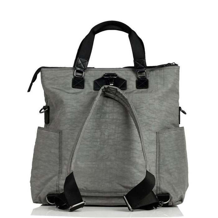 Twelve Little Unisex 3-in-1 Foldover Tote - Grey - CanaBee Baby