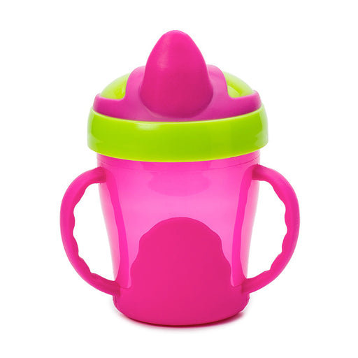 Vital Baby Soft Spout Trainer Cup with Handles 7oz - Pink/Green