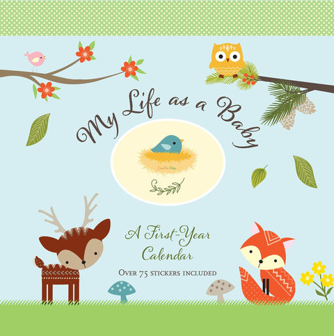 My Life As a Baby: A First-Year Calendar - Woodland Friends - CanaBee Baby