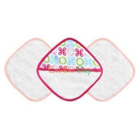 JJ Cole Washcloth Set - Pink Butterfly