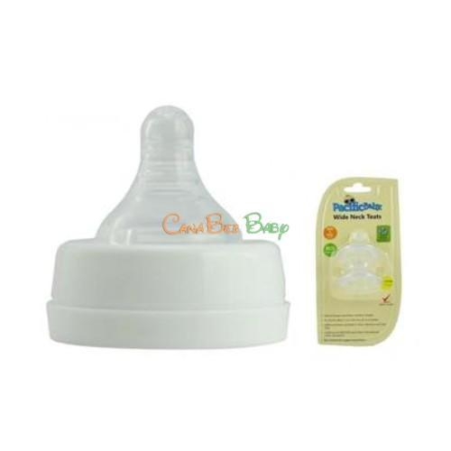 Pacific Baby Wide Neck Nipple Medium Flow - CanaBee Baby