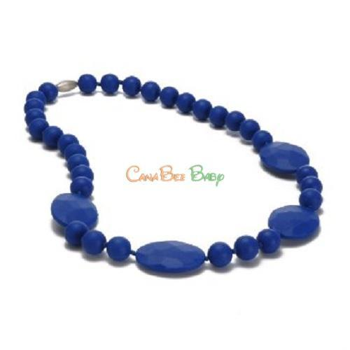Chewbeads Perry Teething Necklace - Cobalt - CanaBee Baby