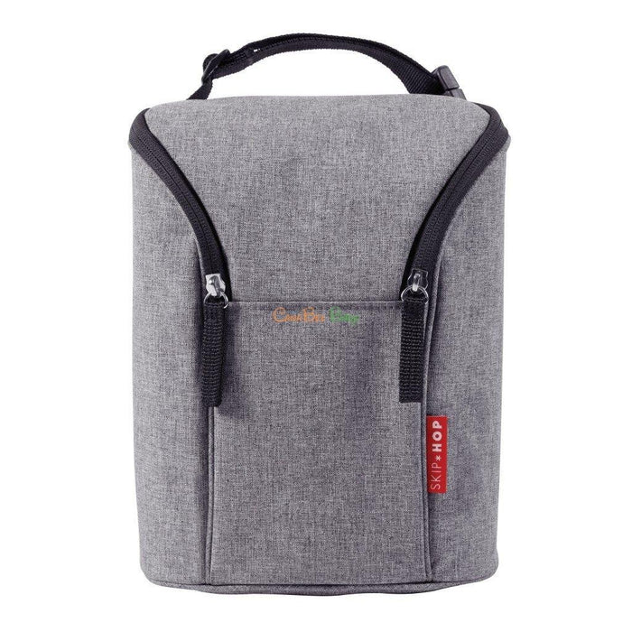 Skip Hop Grab & Go Double Bottle Bag - Grey - CanaBee Baby
